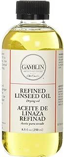 Gamblin 8.5 Oz Refined Linseed Oil (ANG06008)