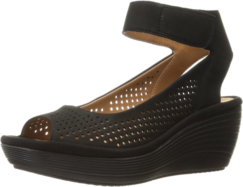 Clarks - - - - Sede Sandale der Frauen, 35 EUR, schwarz Nubuck 035