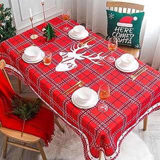 LMWB Bordsskydd, bordsduk, rektangulärt soffbord liten rund bordsduk jul bomull och linne vattentät matbord nyår bordsduk ...
