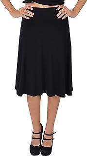 Stretch Is Comfort Women's Knee Length Flowy Skirt