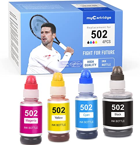high quality MYCARTRIDGE Compatible Ink Bottle Replacement for Epson 502 new arrival T502 Refill high quality for Expression ET-2700 ET-2750 ET-3700 ET-3750 ET-4750 Workforce ST-2000 ST-3000 ST-4000 (Black Cyan Magenta Yellow 4-Pack) outlet online sale