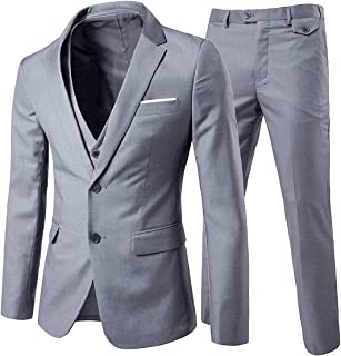 Best grey three piece suits Reviews