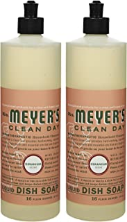 Mrs. Meyer's Clean Day Liquid Dish Soap, Geranium, 16oz, 2pk