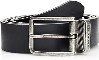 حزام جلدي قابل للتعديل ويمكن استخدامه على الوجهين للرجال من كالفن كلاين بعرض 3.5 سنتيمتر، بلون اسود وبني داكن 910)، 110