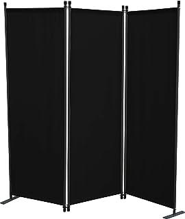 GRASEKAMP - Paravientos de Calidad Desde 1972, 3 Piezas, Color Negro, Separador de ambientes, Pantalla de privacidad, para Balcones
