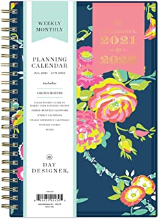 "Day Designer for Blue Sky 2021-2022 Academic Year Weekly & Monthly Planner, 5"" x 8"", Flexible Cover, Wirebound, Peyton Nav..."