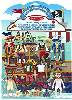 Melissa & Doug 19102 Puffy Play Set, Pirate Reusable Activity Book, 51 Stickers, for Travel, Multicolor, Standalone