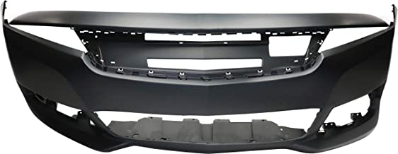 Front Bumper Cover Compatible with CHEVROLET IMPALA 2014-2018 Primed 3.6L Eng with Adaptive Cruise Control LTZ/Premier Models