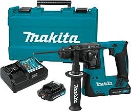 "Makita RH02R1 2.0Ah 12V max CXT Lithium-Ion Cordless 9/16"" Rotary Hammer Kit, accepts SDS-PLUS bits"