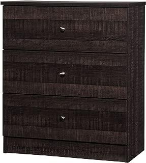 Baxton Studio Wholesale Interiors Decon Wood 3 Drawer Storage Chest, Espresso Brown