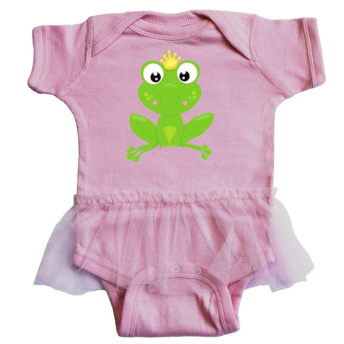 inktastic - Frog Prince, Cute Frog, Frog with A Crown Infant Tutu Bodysuit 35a7e