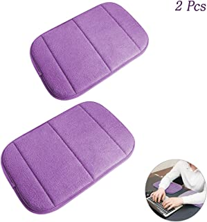 2 Pack Portable Computer Elbow Wrist Pad, Hatisan Premium Memory Cotton Desktop Keyboard Arm Rest Support Mat for Office Home Laptops - More Comfort & Less Strain(7.9 x 11.8 Inch) (Purple)