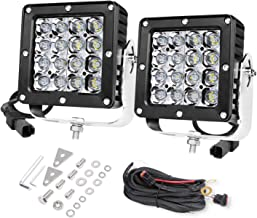 LED Driving Light, OFFROADTOWN 5'' 160W Square Work Light CREE LED Pods QUAD Row Spot Beam Off road Driving Fog lights Waterproof LED Cubes for Truck Jeep Boat
