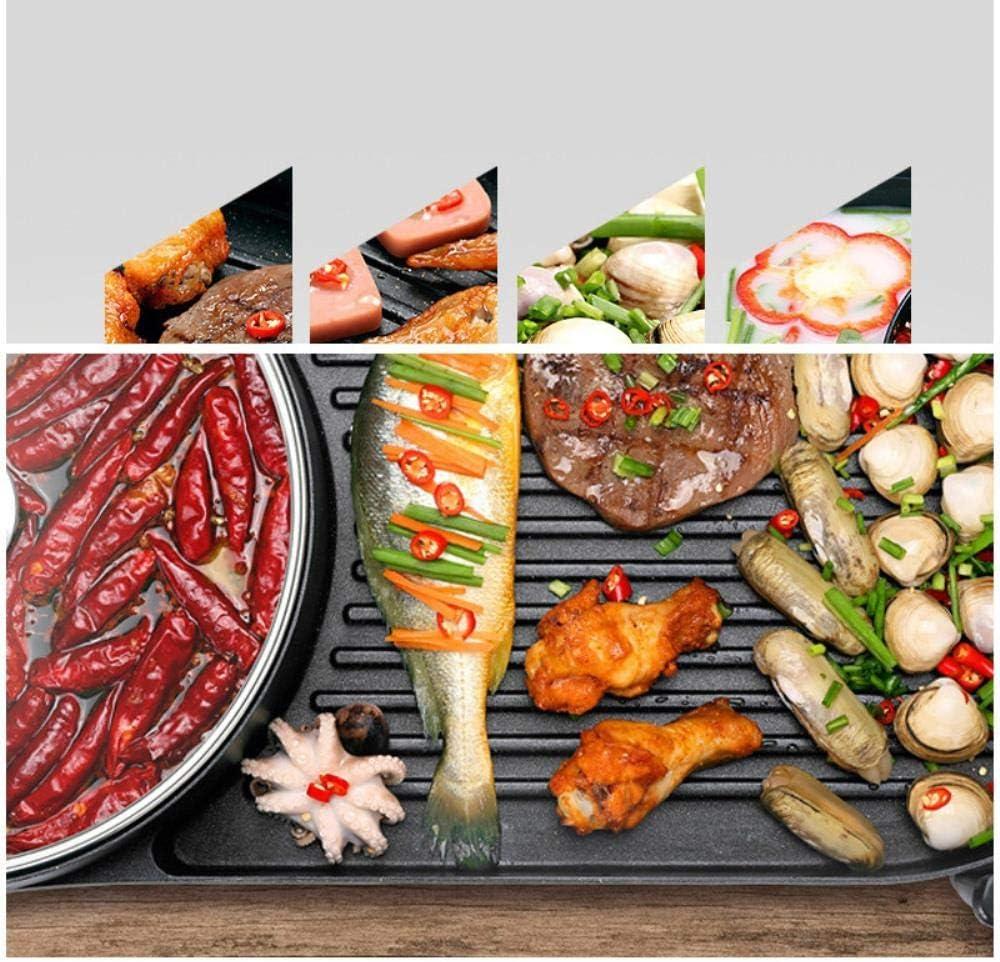 Oiuytghjkl Steak Barbecue Pot antiadhésif poêle avec Manche en Bois Pliable, Noir 24 x 24 cm Black 24 X 24 Cm