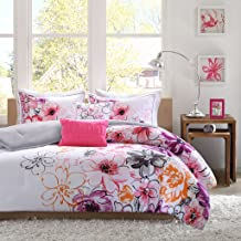 Intelligent Design Olivia Comforter Set Full/Queen Size - Purple Pink, Floral – 5 Piece Bed Sets – Ultra Soft Microfiber Teen Bedding for Girls Bedroom