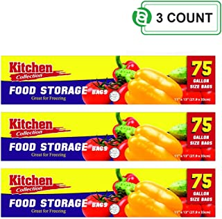 Party Bargains Storage Bags with Twist-Ties | Easy and Convenient Commercial Usage Your Kitchen Storage Needs Capacity: 1 Gallon - Size: 11 inch x 13 inch | Pack of 3 (75 Bags)