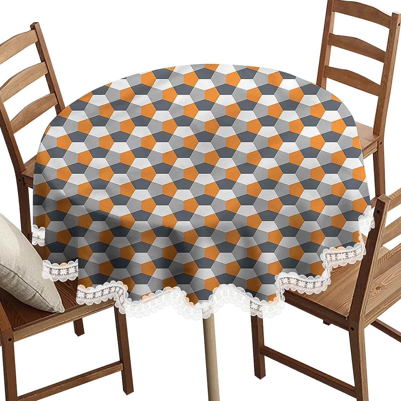 SoSung 3D Printed Round Modern Tablecloth Hexagonal Decorative Phoenix Gifts Mall