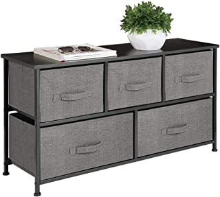 mDesign Extra Wide Dresser Storage Tower - Sturdy Steel...