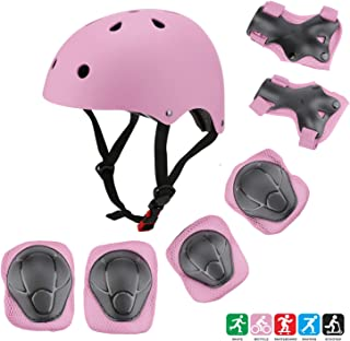 Kuulla Kids Toddler Protective Gear Set - 3 to 8 Years Old - Unisex for Girls and Boys - Helmet and Pads - Elbow Knee Skateboard Gear - Other Extreme Sports Activities