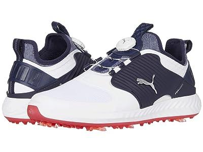 PUMA Golf Ignite PwrAdapt Caged Disc (Puma White/Puma Silver/Peacoat) Men