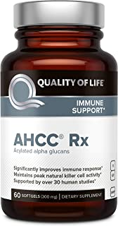 Premium AHCC Immune Support Supplement - Most Bioavaliable AHCC - Natural Mushroom Extract - Quality of Life AHCC Rx-60 So...
