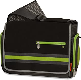 Fisher-Price FastFinder Urban Messenger Diaper Bag, Black/Grey