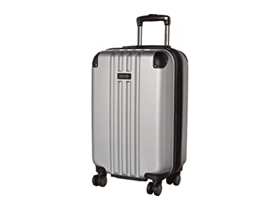 Kenneth Cole Reaction 20 Reverb Lightweight Hardside Expandable 8-Wheel Spinner Carry-On Suitcase (Light Silver) Luggage