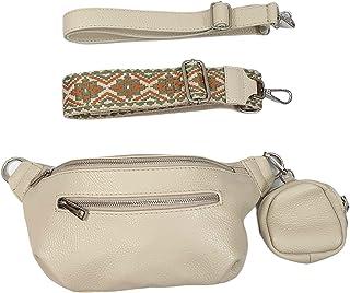 Italy borse in pelle echt Leder Damen Body Bag crossover Handtasche mit Wechsel Riemen und Geldbörse
