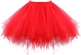 Girls Tutu Skirt Party Unicorn Tulle Tutu Skirt Ballet Bubble Tutu Women's 1950s Vintage Tutu Petticoat