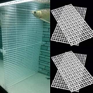 BraveWind 4 Pcs Grid Divider Tray Egg Crate Aquarium Fish Tank Filter Bottom Isolation Board Pane,White