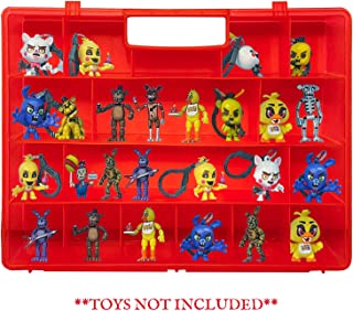 Life Made Better, Figures Playset Organizer, Red Toy Storage Carrying Box, Compatible with Five Nights at Freddy Case, Accessories for Kids by LMB