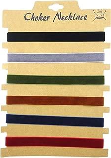 Honbay 6PCS Fashionable Women Choker Velvet Ribbon Collar Ribbon Adjustable Necklace