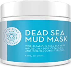 NEW Premium Dead Sea Mud Mask for Face and Body, Purifying Face Mask for Acne, Blackheads, and Oily Skin by Pure Body Naturals, 8.8 Ounce