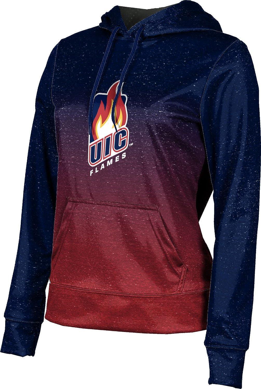 ProSphere University of Illinois at Chicago Girls' Pullover Hoodie, School Spirit Sweatshirt (Ombre)