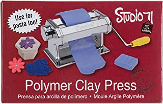 Darice Studio 71 Machine Craft Variety of Projects, 7 Thickness Options, Table Clamp Included, Polymer Clay Press to Flatten and Smooth