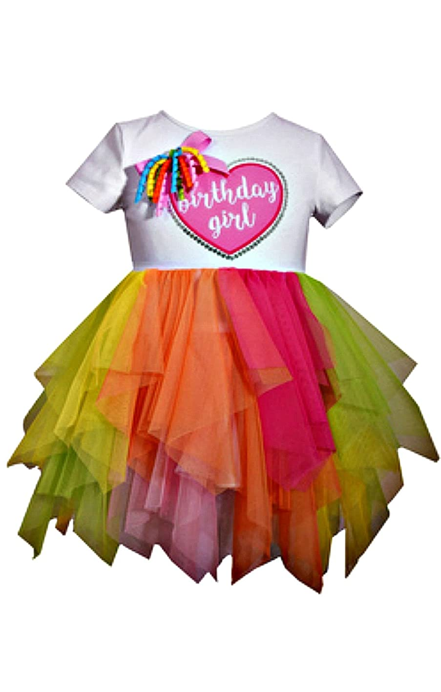 Bonnie Baby First Birthday Girl's Heart Tutu Dress,1st Girls Birthday jvmfqcdeqtz805
