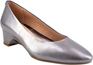 Taryn Rose Women's Babs Dress Pump, Gunmetal Metallic, 5 M