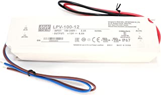 MEAN WELL LPV-100-12 C.V Single Output Waterproof 102Watts 8.5Amp 12VDC LED Driver IP67 Suitable for LED related fixture or appliance