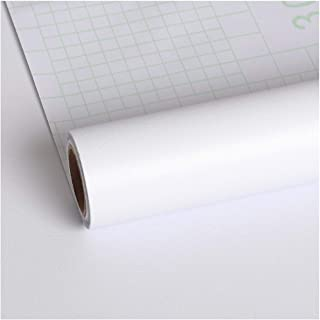 VEELIKE 40cm×900cm White Contact Paper Wallpaper Peel and Stick Removable Waterproof Self Adhesive Film for Cabinet Counte...