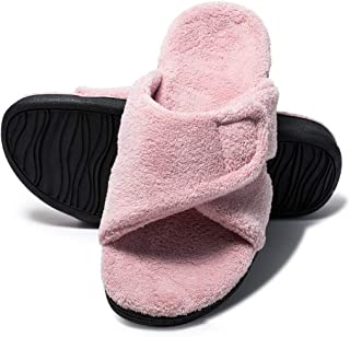 LOIBASO Orthotic Slippers with Arch Support Heel Cup Sandals Home Shoes House Slippers for Women with Indoor Outdoor Anti-Skid Rubber Sole