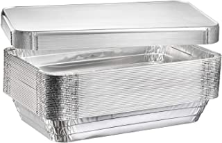 """Full Size Deep Steam Aluminum Table Pans - Disposable to go Foil Pans for Chafing, Baking, Storing and Catering Containers (21"""" x 13"""" x 3"""") (40, with Lids)"""