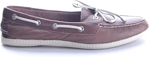 Sperry EZBC285003 Damen Braun Leder Mokassins