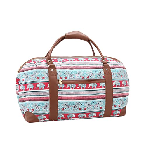 dd5e61a29 Canvas Travel Holdalls - 30 COLOURS - Weekend Overnight Bags - Medium Size  Holiday Duffle Bag