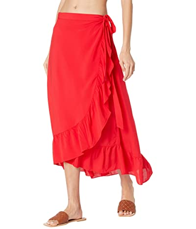 Kate Spade New York Cabana Ruffle Wrap Skirt Cover-Up Women