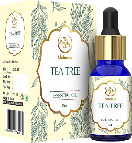 The Beauty Co. Tea Tree Oil for Acne and Blemish-Free Skin - 15ml | Organic & Pure Undiluted | Natural | Reduces Acne...
