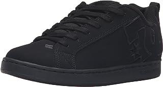 DC Kids Youth Court Graffik Skate Shoes Skateboarding Black, 5 M US