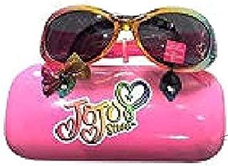 JoJo Siwa Bow Sunglasses &Hard shell Carrying Case Set - 100% UVA & UVB Protection Girls 4 - 16, Pink