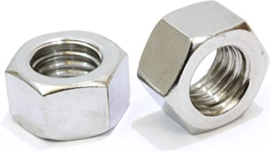 """1/4""""-20 Stainless Hex Nut (100 Pack), by Bolt Dropper, 304 18-8 Stainless Steel Nuts."""