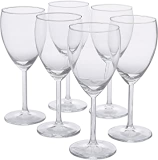 IKEA - SVALKA White wine glass, clear glass, H:7