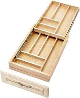 Rev-A-Shelf - 4WTCD-18SC-1 - Medium Double Tiered Cutlery Drawer with Soft-Close Slides (Renewed)